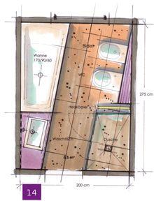 188 besten bad grundriss bilder auf pinterest badezimmer for Innenarchitektur studium leipzig