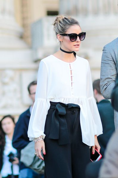 Olivia Palermo is seen outside the Barbara Bui show at Grand Palais during Paris Fashion Week Spring Summer 2017 on September 29 2016 in Paris France