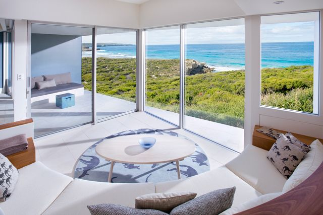 Southern Ocean Lodge, South Australia. Perched high above Kangaroo Island's rugged coastline, this unique jewel is an aesthete's dream.