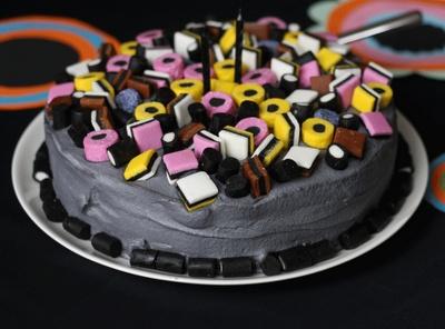 Liquorice-cake, yammy!