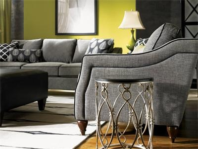 chartreuse walls, grey fabric...maybe throw a little color into the pillows