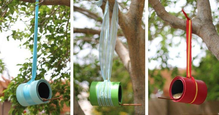 Návod na originální krmítka pro ptáčky z plechovek   Čarujeme