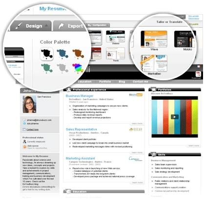 Crea un curriculum onlineOnline Resume, Doyoubuzz Resume, Curriculum Online