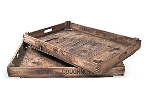Acme Donut Delivery Crates, Set of 2