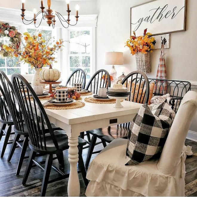 Farmhouse fall dining room decorating ideas - Room decor for small rooms ...
