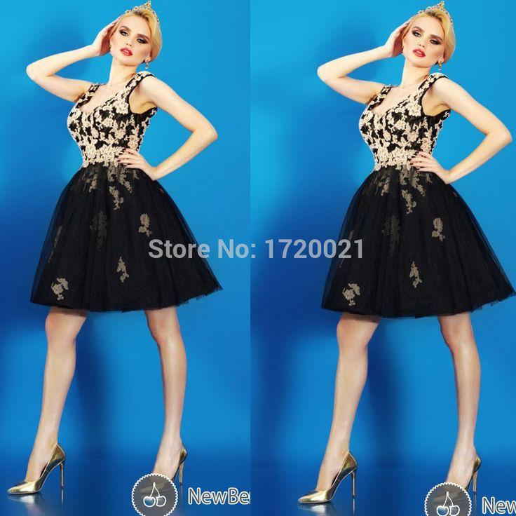 Купить товарНовый Homecoming платья V шеи черный тюль золотыми блестками аппликации бальное платье черный короткие коктейльные платья 2015 в категории Коктейльные платьяна AliExpress.             Платье размер диаграммы             Плюс размер платья размер диаграммы       Шифон           Тафта