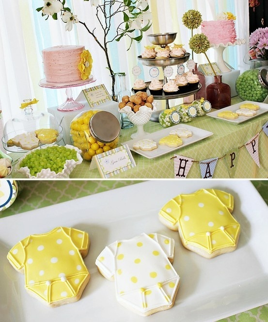 baby shower food food yellow & green   Oh my goodness!! If we ever have a baby girl I want it!!!