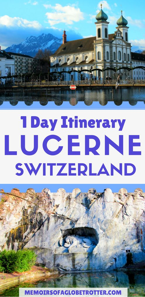 This city in #Switzerland is surrounded by snowcapped mountains. It is famous for its covered bridge, swans and Lion Monument. Read this guide to discover how to spend one day in #Lucerne.