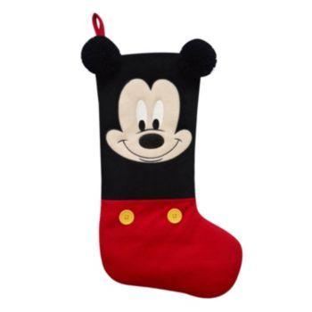Disney's Mickey Mouse Christmas Stocking w/ Pom Poms