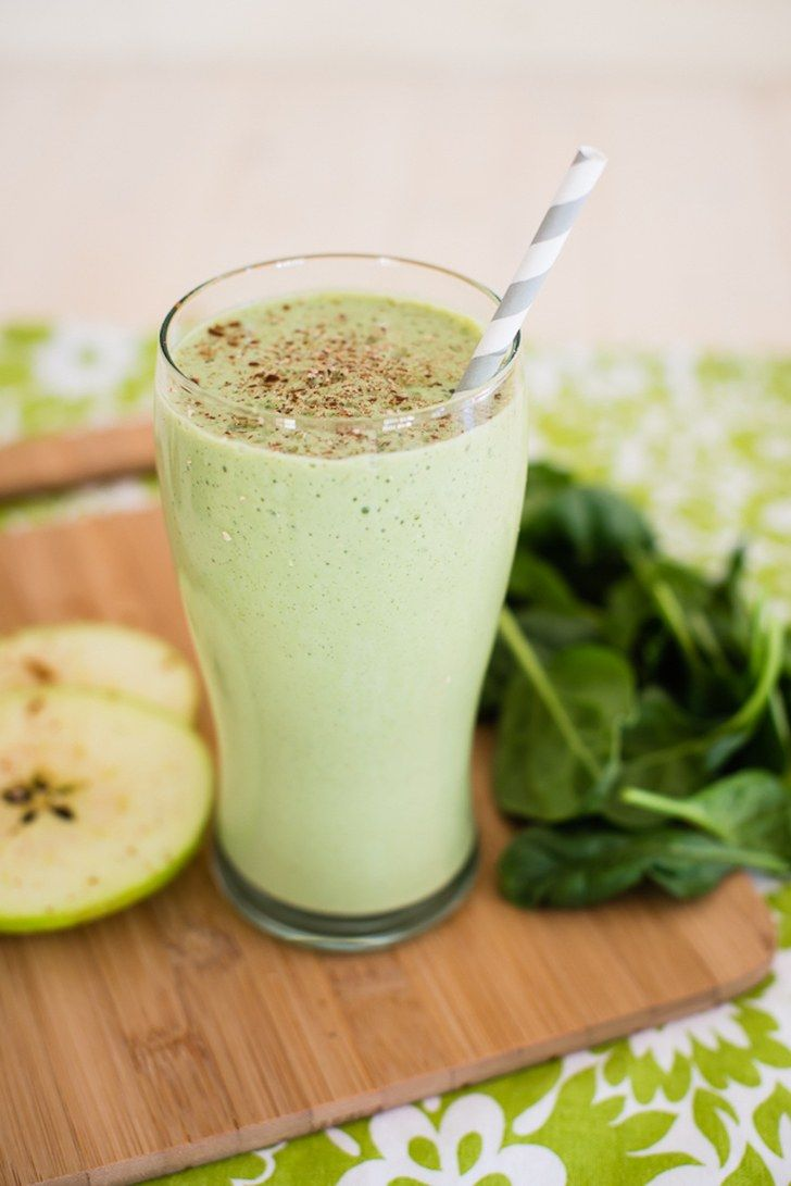 Have an apple craving? Try out out this tasty, high-protein green apple smoothie. Bonus: You won't need any protein powder to make it.