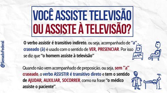 Regencia Verbal Assiste A Televisao Com Imagens Verbo Dicas