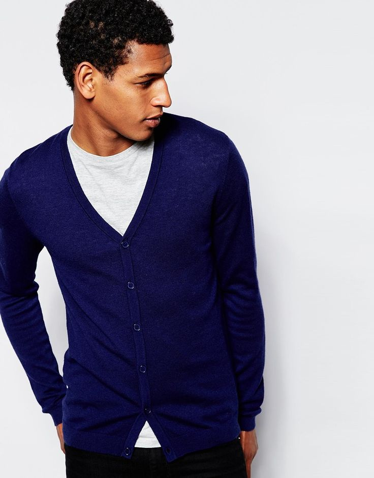 Image 1 of ASOS V Neck Cardgian in Merino