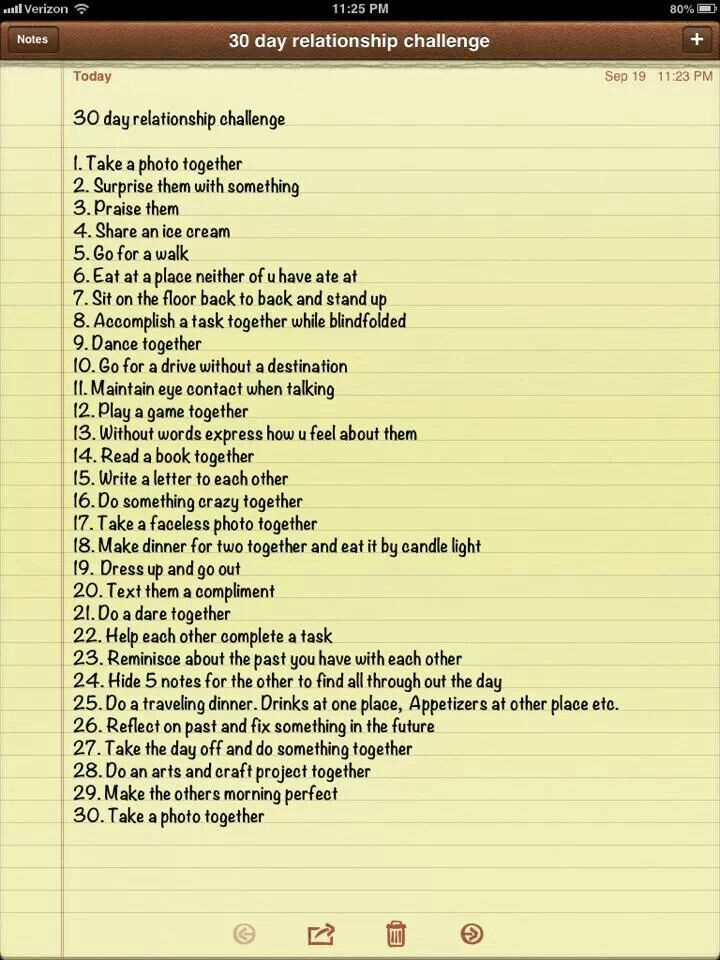 30 day relationship challenge marriage pinterest for Relationship advice for couples