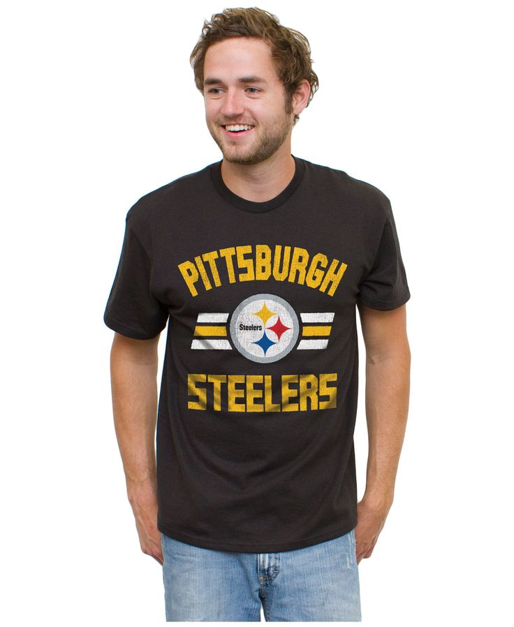 Authentic Nfl Apparel Men's Pittsburgh Steelers Halfback T-Shirt