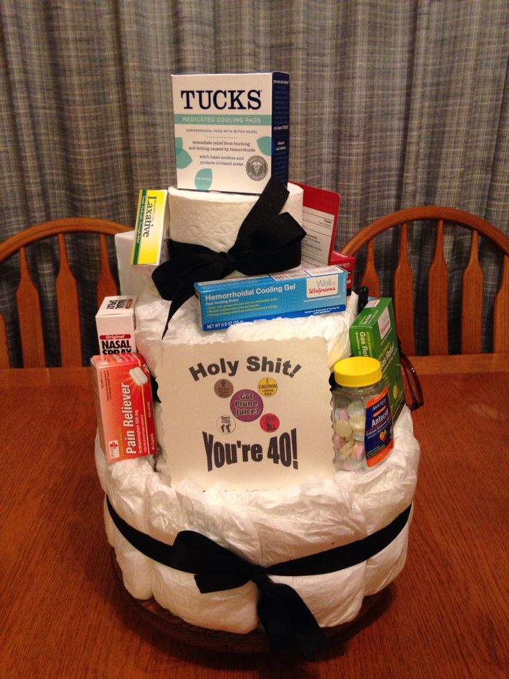 Over The Hill Adult Diaper Cake I Used 40 Adult Diapers