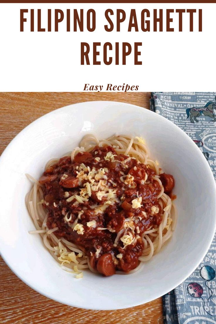 Filipino Style Spaghetti Recipe is a sweet spaghetti recipe that is mix with ground beef,