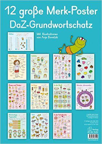 12 große Merk-Poster DaZ-Grundwortschatz: Amazon.es: Libros en idiomas extranjeros