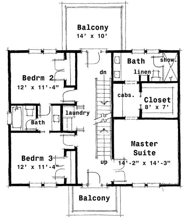 Luxury Center Hall Colonial Floor Plan