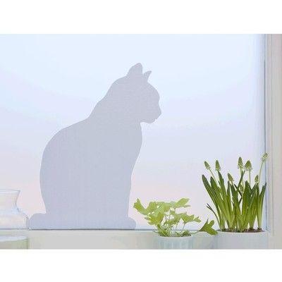 Nouveau ! le modèle Chat, film occultant électrostatique pour fenêtre Strossel Design