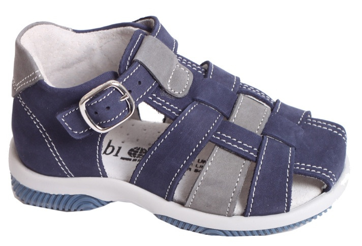 Bimbi Blue Leather Shoe - Bimbi - Buckets and Spades for kids