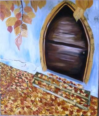 "Saatchi Art Artist Diana Encea; Painting, ""Gate to fall"" #art"