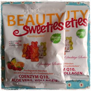 Pzycho Babys kleine Produkttest- und Beautyecke : Beauty Sweeties® Fruchtgummi - Fruchtig lecker ohne Fett schlemmen