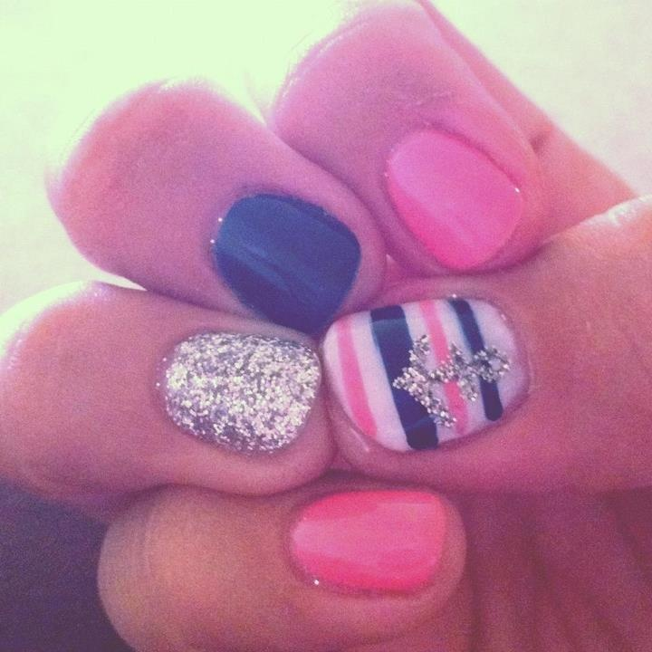 Super cute sailor nails