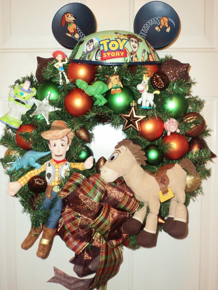 Toy Story Wreath Home Decor Christmas By Viennasparklewreaths Via Etsy Christmas Wreaths Diy Christmas Wreaths Disney Christmas
