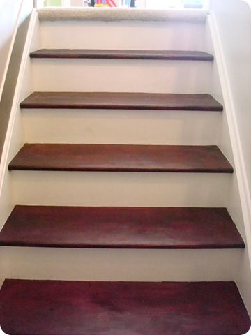 The 25 best stair redo images on pinterest staircase for Ideas for redoing stairs