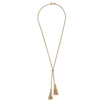 J.Crew double tassel necklace.