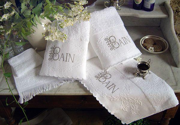 17 best images about linge de bain on pinterest macrame home and birds. Black Bedroom Furniture Sets. Home Design Ideas