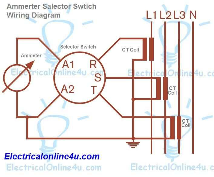 A Complete Guide Of Ammeter Selector Switch Wiring Diagram With Current Transformers And Ammeter Diagram Circuit Diagram Switch