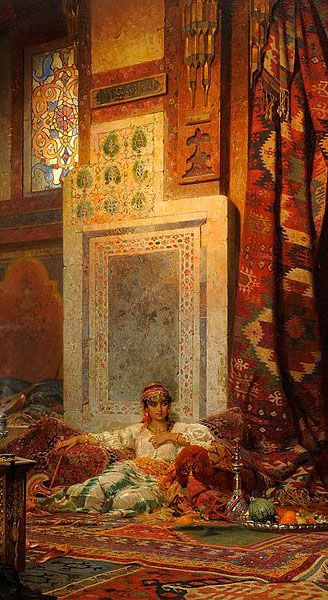 Look at Orientalist art (paintings) for interior design inspiration - read article -
