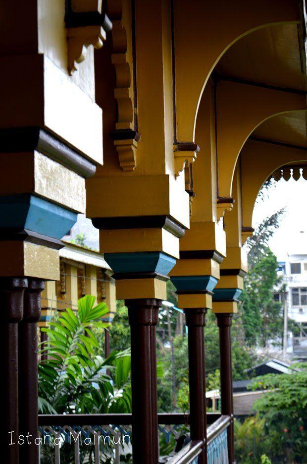 Maimun Palace Balcony, Medan, North Sumatra