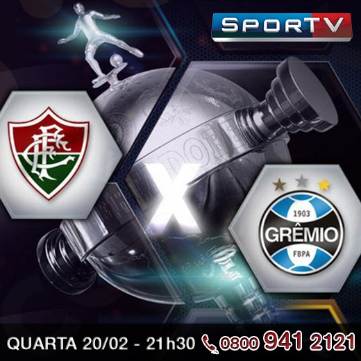 Hoje à noite tem partida da Libertadores: Fluminense vs Grêmio, pelo SporTv. Narração de Luiz Carlos Jr e comentários de PC Vasconcellos.     Qual o seu placar para o jogo de hoje?     http://www.clarotv.br.com/