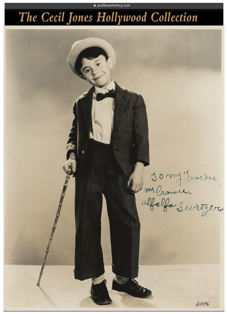 Alfalfa Switzer - 8x10 signed photo inscribed to Alfalfa's dance teacher (of tap). (see matching photo of Darla Hood)