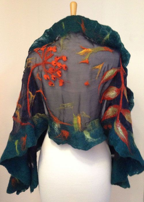 irish felted shawl                                                                                                                                                      More
