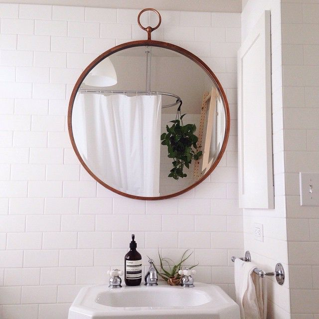 1000 Ideas About Circle Mirrors On Pinterest: Small Hall, Small Entrance And Entryway Shelf