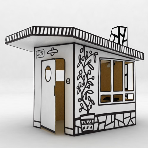 Thinking out side the (cardboard) box.  Villa Julia Small Cardboard House modern kids toys