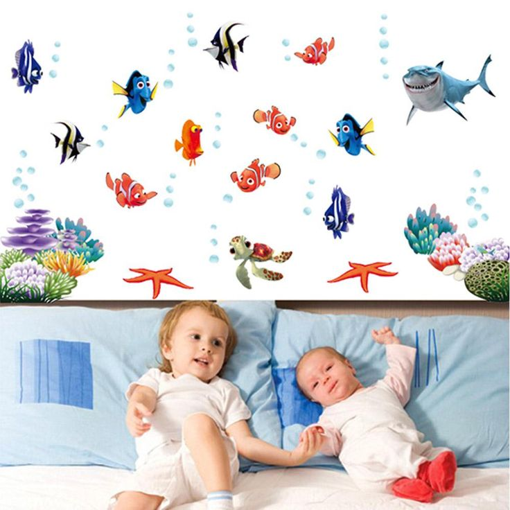 DIY Home Decoration Adesivo De Parede Underwater World Various Fish Ocean Wall Sticker Wallpaper Art Decor Mural Room Decal H11191 Room Decoration Wall Stickers Wall Paper Online with $9.9/Piece on Abestbuy's Store | DHgate.com