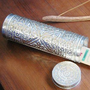 お香も収納出来るアルミの筒型ケース(ロングタイプ:30cm)