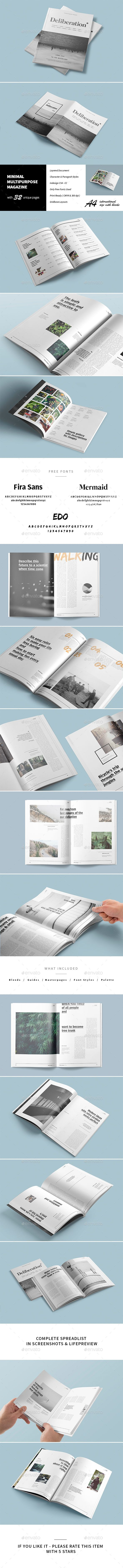 32 Pages Minimal Magazine