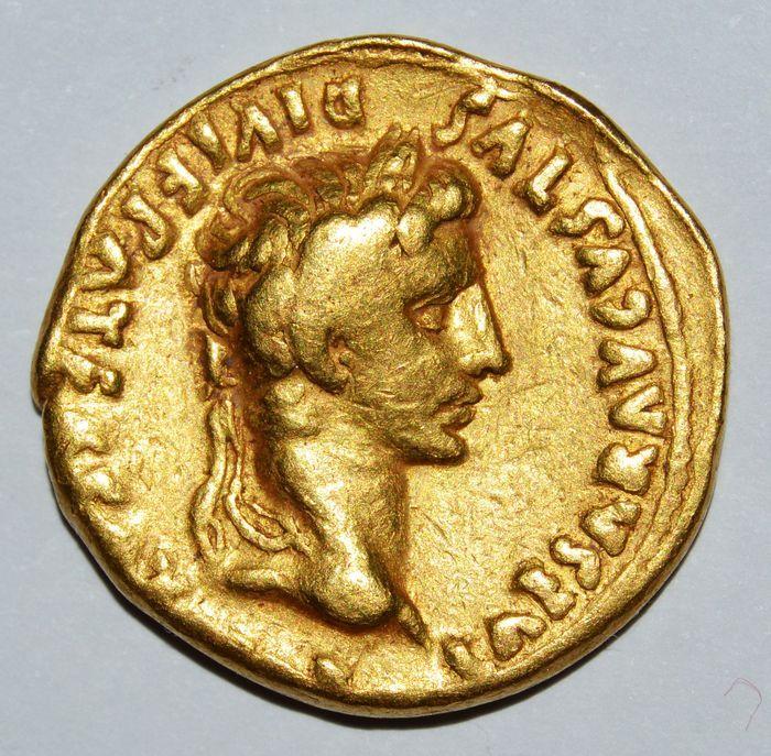 Roman Empire - Augustus (27 BC-AD 14). AV Aureus, Lugdunum (Lyon) mint. Struck 2 BC- AD 12