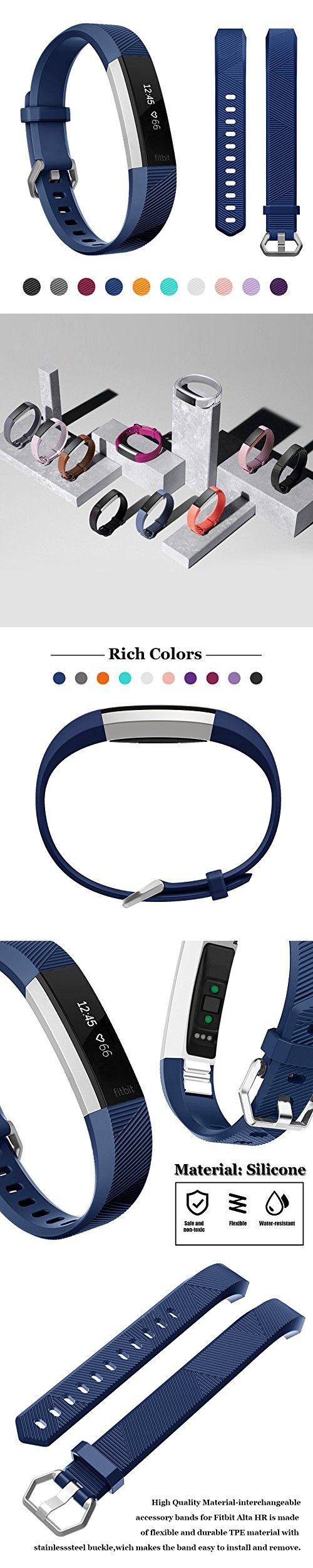 Fitbit Alta Band, Fitbit Alta Hr Band, Kutop Silicone Adjustable Strap Sports Fitness Watchband for Fitbit Alta HR/Fitbit Alta Wristband