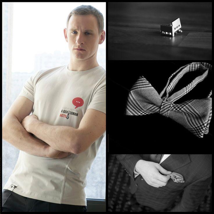 A boy speks a gentleman acts - Motivational t-shirt !