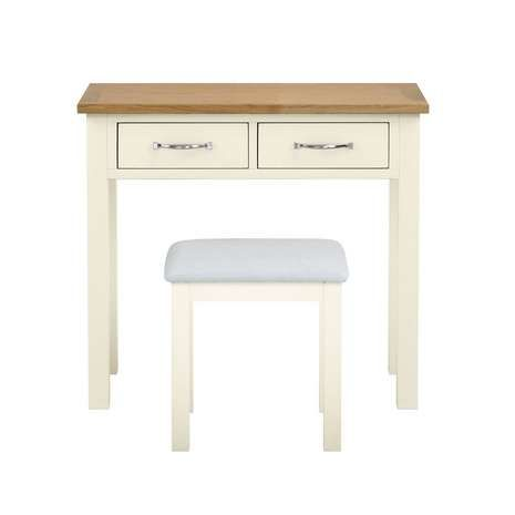 Sidmouth Cream Dressing Table and Stool | Dunelm