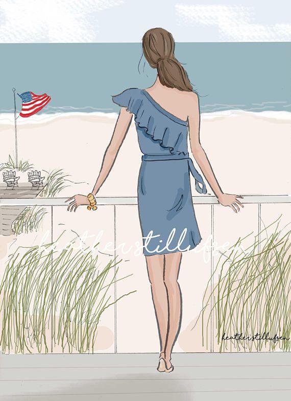 Welcome Summer   Beach House Art   Art for Women Friendship