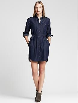 style denim dress banana