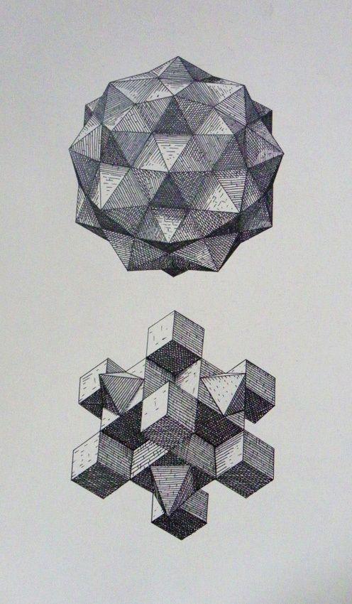 polyhedra studies by aleksandar bezinovic, via behance