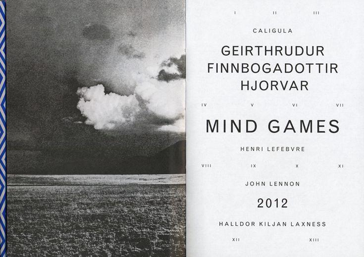 MINDGAMES 2012 – Werkplaats Typographie